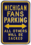 Michigan Sacked Parking Steel Sign Wall Sign