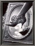 Evening Boot Designed by Roger Vivier For Dior Framed Photographic Print by Paul Schutzer