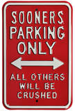 Sooners Crushed Parking Steel Sign Wall Sign