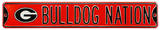 Bulldog Nation Georgia Logo Steel Sign Wall Sign