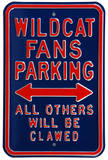 Wildcat Clawed Parking Arizona Steel Sign Wall Sign