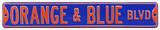 Orange & Blue Blvd Steel Sign Wall Sign