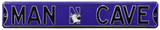 Man Cave Northwestern Wildcats Steel Sign Wall Sign