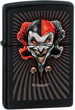 CT Red Jester - Black Matte Zippo Lighter Lighter