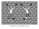 """I'm starting to see some real definition in my abs.""  - New Yorker Cartoon Premium Giclee Print by Alex Gregory"