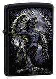 Howl At The Moon - Black Matte Zippo Lighter Lighter