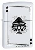 In Spades - White Matte Zippo Lighter Lighter