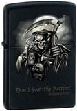 CT Don&#39;t Fear The Reaper - Black Matte Zippo Lighter Lighter