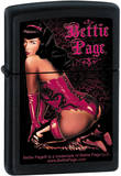 Bettie Page - Black Matte Zippo Lighter Lighter