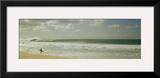 Surfer Standing on the Beach, North Shore, Oahu, Hawaii, USA Framed Photographic Print by Panoramic Images