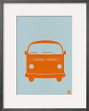 Orange VW Bus Prints by  NaxArt