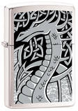 Silver Dragon - Brush Chrome Zippo Lighter Lighter