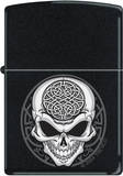 Celtic Skull - Black Matte Zippo Lighter Lighter