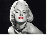 Marilyn Monroe Posing Stretched Canvas Print
