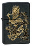 Dragon Smoke - Black Matte Zippo Lighter Lighter