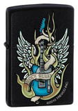 Rock Rules - Black Matte Zippo Lighter Lighter