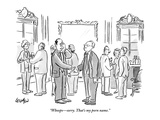 """Whoops—sorry. That's my porn name."" - New Yorker Cartoon Regular Giclee Print by Robert Leighton"