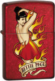 Bettie Page - Candy Apple Red Zippo Lighter Lighter