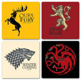 Game Of Thrones - House Coaster Set Coaster