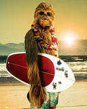 Star Wars-Chewie Surf Poster