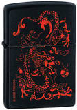 Red Dragon - Black Matte Zippo Lighter Lighter