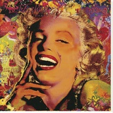Marilyn I Stretched Canvas Print by Guillaume Ortega