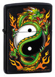 Yin Yang Dragon - Black Matte Zippo Lighter Lighter