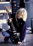 Kurt Cobain-Guitar Affiche