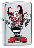 CT Ax Clown - Brush Chrome Zippo Lighter Lighter