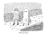 """Mom says it's safer."" - New Yorker Cartoon Premium Giclee Print by Danny Shanahan"