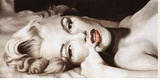 Marilyn allongée Reproduction sur toile tendue par Frank Ritter