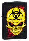 Biohazzard Skull - Black Matte Zippo Lighter Lighter