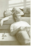 Flutesong, Marilyn Monroe and James Dean Stretched Canvas Print by Paul Gasenhemier