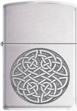 Celtic Knot - Brush Chrome Zippo Lighter Lighter