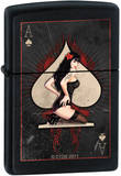 CT Ace Pinup - Black Matte Zippo Lighter Lighter
