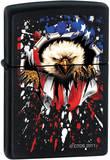 CT Bald Eagle Flag - Black Matte Zippo Lighter ライター