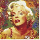 Marilyn II Stretched Canvas Print by Guillaume Ortega
