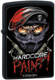 CT Hardcore Paint - Black Matte Zippo Lighter Lighter