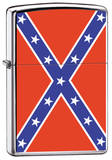Rebel Flag - Brush Chrome Zippo Lighter Lighter