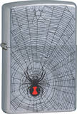 Black Widow - Street Chrome Zippo Lighter Lighter