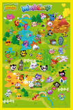 Moshi Monsters -Moshling Land Print