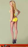 Jessa Hinton Yellow Lingerie Lifesize Wall Decal Wall Decal