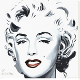 Marilyn Stretched Canvas Print by Irene Celic