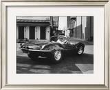 Actor Steve McQueen Driving His Jaguar Framed Photographic Print by John Dominis