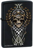CT Race Skull - Black Matte Zippo Lighter Lighter