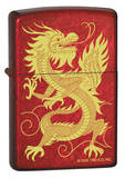 Oriental Dragon - Candy Apple Red Zippo Lighter Lighter