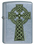 Celtic Cross - Street Chrome Zippo Lighter Lighter