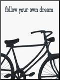 Bicycle - Follow Your Own Dream Mounted Print by Lisa Weedn