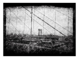 Through Roebling's Grid Photographic Print by Evan Morris Cohen