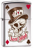 Aces High - High Polish Chrome Zippo Lighter Lighter